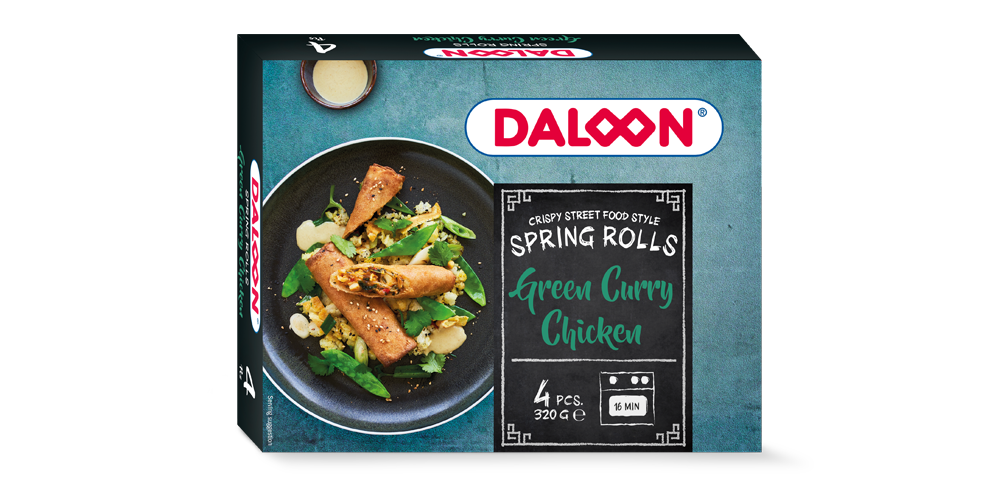 Spring Rolls Green Curry Chicken