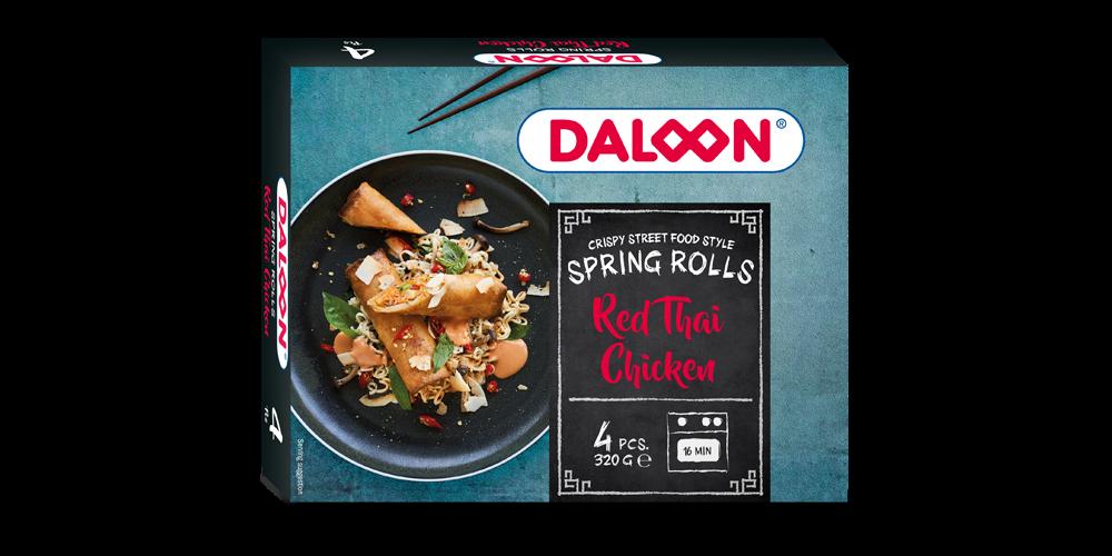 Spring Rolls Red Thai Chicken