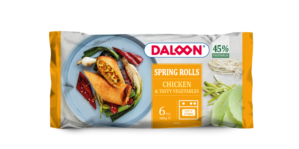 Spring Rolls Chicken & Tasty Vegetables