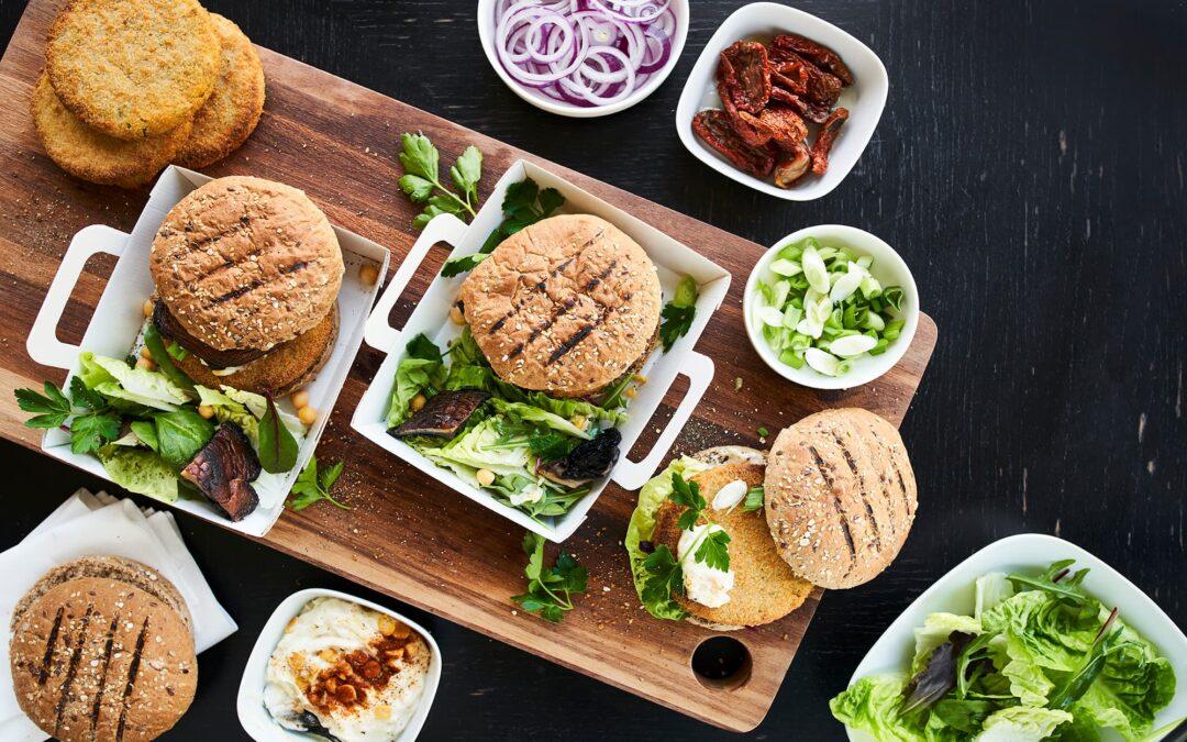 Vegetable Burger med Portobello-svampe og homemade grov kikærtemayo